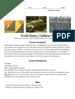 world history i syllabus