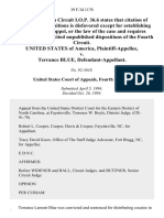 United States v. Terrance Blue, 39 F.3d 1178, 4th Cir. (1994)