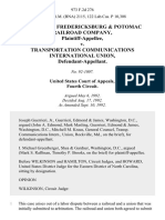 Richmond, Fredericksburg & Potomac Railroad Company v. Transportation Communications International Union, 973 F.2d 276, 4th Cir. (1992)
