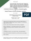 United States v. Samuel Thomas Lawson, 993 F.2d 229, 4th Cir. (1993)
