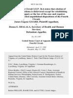 James Eugene Goard v. Donna E. Shalala, Secretary of Health and Human Services, 993 F.2d 1536, 4th Cir. (1993)