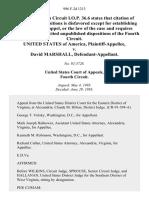 United States v. David Marshall, 996 F.2d 1213, 4th Cir. (1993)