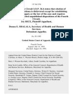 Joy Rice v. Donna E. Shalala, Secretary of Health and Human Services, 1 F.3d 1234, 4th Cir. (1993)
