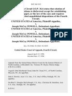 United States v. Joseph McCoy Powell, United States of America v. Joseph McCoy Powell, United States of America v. Joseph McCoy Powell, 28 F.3d 1212, 4th Cir. (1994)