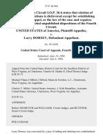 United States v. Larry Dorsey, 27 F.3d 564, 4th Cir. (1994)