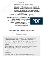 James L. Sanford v. Moving Picture MacHine Operators' Protective Union, Local No. 224 Clarence Crews, President, Moving Picture MacHine Operators' Protective Union, Local No. 224, 14 F.3d 596, 4th Cir. (1993)