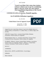 United States v. Iris Warner, 105 F.3d 650, 4th Cir. (1997)