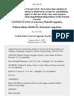 United States v. William Blaine Hodges, 30 F.3d 132, 4th Cir. (1994)