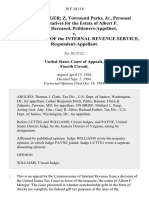 John A. Metzger Z. Townsend Parks, Jr., Personal Representatives for the Estate of Albert F. Metzger, Deceased v. Commissioner of the Internal Revenue Service, 38 F.3d 118, 4th Cir. (1994)