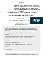 United States v. Billy Sloan Beatty, 35 F.3d 557, 4th Cir. (1994)