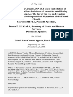 Clarence Riffle v. Donna E. Shalala, Secretary of Health and Human Services, 47 F.3d 1165, 4th Cir. (1995)