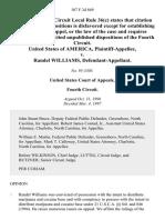 United States v. Randel Williams, 107 F.3d 869, 4th Cir. (1997)