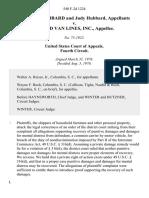 F. Patrick Hubbard and Judy Hubbard v. Allied Van Lines, Inc., 540 F.2d 1224, 4th Cir. (1976)