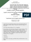 Franklin Lackey v. Louis W. Sullivan, Secretary of Health and Human Services, 912 F.2d 463, 4th Cir. (1990)