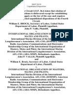 William E. Brock, Secretary of Labor, United States Department of Labor, John P. Vallis v. International Organization of Masters, Mates and Pilots International Marine Division of the International Longshoremen's Association, Afl-Cio, (Iommp) American Radio Association Communications and Electronics Membership Group of the International Organization of Masters, Mates and Pilots the International Marine Division of the International Longshoremen's Association, Afl-Cio, (Ara-Mmp), John P. Vallis, and William E. Brock, Secretary of Labor, United States Department of Labor v. International Organization of Masters, Mates and Pilots International Marine Division of the International Longshoremen's Association, Afl-Cio, (Iommp) American Radio Association Communications and Electronics Membership Group of the International Organization of Masters, Mates and Pilots the International Marine Division of the International Longshoremen's Association, Afl-Cio, (Ara-Mmp), 840 F.2d 10, 4th Cir. (1988)