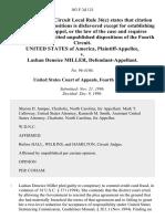 United States v. Lashan Deneice Miller, 103 F.3d 121, 4th Cir. (1996)