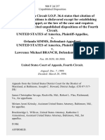 United States v. Orlando Simms, United States of America v. Lawrence Michael Branch, 900 F.2d 257, 4th Cir. (1990)