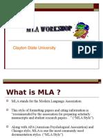 MLA Workshop PPT