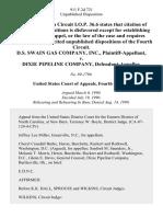 D.S. Swain Gas Company, Inc. v. Dixie Pipeline Company, 911 F.2d 721, 4th Cir. (1990)