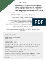 United States v. Payne, 995 F.2d 1064, 4th Cir. (1993)