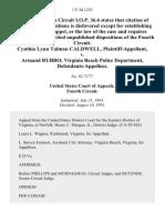 Cynthia Lynn Talman Caldwell v. Armand Rubbo Virginia Beach Police Department, 1 F.3d 1232, 4th Cir. (1993)