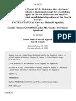 United States v. Dennis Thomas Goodson, A/K/A Mr. Goody, 7 F.3d 227, 4th Cir. (1993)