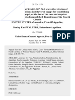 United States v. Denley Earl Walters, 39 F.3d 1179, 4th Cir. (1994)
