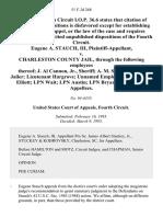 Eugene A. Stauch, III v. Charleston County Jail, Through the Following Employees Thereof J. Al Cannon, Jr., Sheriff A. M. Sprague, Chief Jailer Lieutenant Hargrove Unnamed Employee Head Nurse Elliott Lpn Wait Lpn Austin Lpn Bryant, 51 F.3d 268, 4th Cir. (1995)