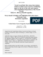Robert C. Belk v. Wal-Mart Stores, Incorporated, D/B/A Sam's Wholesale Club, 106 F.3d 389, 4th Cir. (1997)
