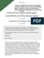 United States v. Lyndell Thomas, A/K/A X-Man, 69 F.3d 534, 4th Cir. (1995)