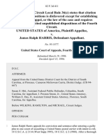United States v. James Ralph Harris, 82 F.3d 411, 4th Cir. (1996)