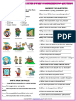Snow White and the Seven Dwarfs Simple Present Tense Fairy Tale Comprehension Questions