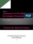 Naissance et Évolution de la Langue Française Presentation[1]
