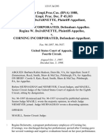 75 Fair empl.prac.cas. (Bna) 1088, 72 Empl. Prac. Dec. P 45,103 Regina W. Dejarnette v. Corning Incorporated, Regina W. Dejarnette v. Corning Incorporated, 133 F.3d 293, 4th Cir. (1998)