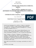 Jefferson Standard Life Insurance Company v. United States of America, (Two Cases). Jefferson Standard Life Insurance Company v. United States of America, (Two Cases), 408 F.2d 842, 4th Cir. (1969)