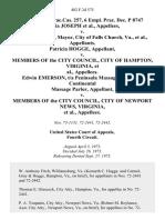 6 Fair empl.prac.cas. 257, 6 Empl. Prac. Dec. P 8747 Gloria Joseph v. Louis H. Blair, Mayor, City of Falls Church, Va., Patricia Hogge v. Members of the City Council, City of Hampton, Virginia, Edwin Emerson, T/a Peninsula Massage Parlor, T/a Continental Massage Parlor v. Members of the City Council, City of Newport News, Virginia, 482 F.2d 575, 4th Cir. (1973)