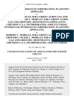 Interstate Petroleum Corporation v. Robert C. Morgan, D/B/A Green Acres Gas and Grocery Vickie L. Morgan, D/B/A Green Acres Gas and Grocery, Chevron U.S.A. Incorporated, Amicus Curiae. Interstate Petroleum Corporation v. Robert C. Morgan, D/B/A Green Acres Gas and Grocery Vickie L. Morgan, D/B/A Green Acres Gas and Grocery, Chevron U.S.A. Incorporated, Amicus Curiae, 249 F.3d 215, 4th Cir. (2001)