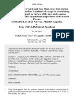 United States v. Tony Osias, 104 F.3d 360, 4th Cir. (1996)