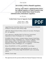 National Taxpayers Union v. United States Social Security Administration Kathy A. Buller, in Her Official Capacity as Chief Counsel to the Inspector General of the United States Social Security Administration, 376 F.3d 239, 4th Cir. (2004)
