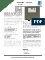 Telecom Shelter AC Controller A5-G312PR