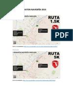Rutas Primera Maraton Navideña 2015
