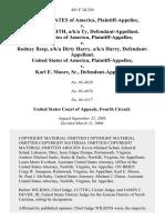 United States v. Terrance Smith, A/K/A Ty, United States of America v. Rodney Reep, A/K/A Dirty Harry, A/K/A Harry, United States of America v. Karl E. Moore, Sr., 441 F.3d 254, 4th Cir. (2006)