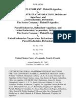 The Scotts Company v. United Industries Corporation, and Pursell Industries, the Scotts Company v. Pursell Industries, and United Industries Corporation, the Scotts Company v. United Industries Corporation, and Pursell Industries, 315 F.3d 264, 4th Cir. (2002)