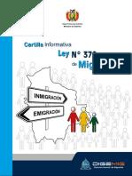 Cartilla Ley Inmigraciones - Bolivia