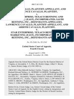 Ardith Cavallo, and Lawrence Cavallo v. Star Enterprise Texaco Refining and Marketing (East), Incorporated Saudi Refining, Inc., Lawrence Cavallo, and Ardith Cavallo v. Star Enterprise Texaco Refining and Marketing (East), Incorporated Saudi Refining, Inc., 100 F.3d 1150, 4th Cir. (1996)
