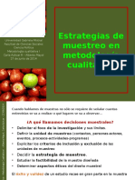 UGM Metodología Cualitativa I Sesión Muestreo (1)