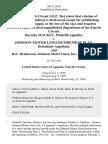 Dorothy MacKey v. Johnson Motor Lines Retirement Plan, and H.E. Henderson, Johnson Motor Lines, Inc., 883 F.2d 69, 4th Cir. (1989)