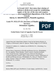 Shirley E. Shepperson v. Louis W. Sullivan, Secretary of Health and Human Services, 932 F.2d 964, 4th Cir. (1991)