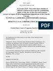 National Labor Relations Board v. Beretta U.S.A. Corporation, 943 F.2d 49, 4th Cir. (1991)