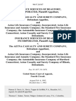 Insurance Services of Beaufort, Incorporated v. The Aetna Casualty and Surety Company, and Aetna Life Insurance Company, Incorporated Aetna Life Insurance and Annuity Company the Standard Fire Insurance Company the Automobile Insurance Company of Hartford Connecticut Aetna Casualty and Surety Company of Illinois, Insurance Services of Beaufort, Incorporated v. The Aetna Casualty and Surety Company, and Aetna Life Insurance Company, Incorporated Aetna Life Insurance and Annuity Company the Standard Fire Insurance Company the Automobile Insurance Company of Hartford Connecticut Aetna Casualty and Surety Company of Illinois, 966 F.2d 847, 4th Cir. (1992)
